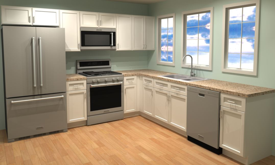 10x10 Kitchen Cabinets Example