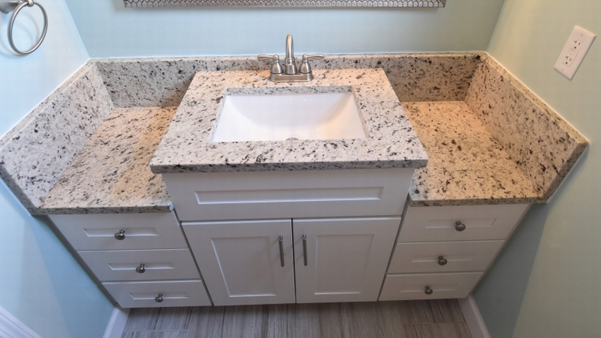 Multi-Height White Shaker Vanity