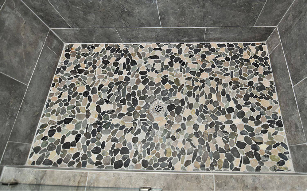 Shower Floor Pebble Mosaic
