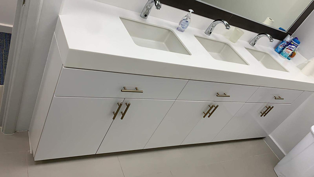 Valencia White (High Gloss) Commercial Vanities