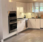 Sunny White (High Gloss) Kitchen Cabinets