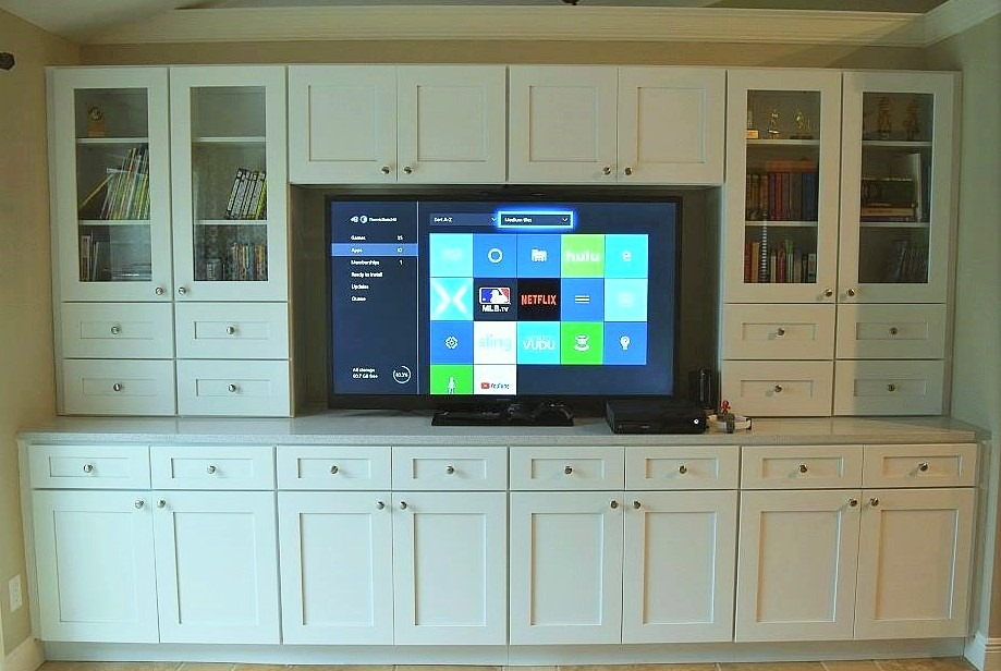 Ice White Shaker Entertainment Center