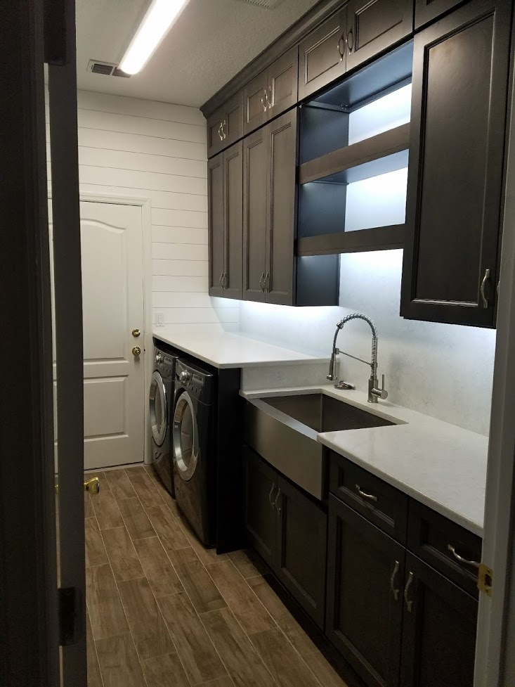 Townsquare Grey Laundry Cabinets